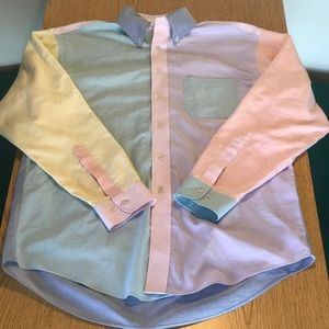 Brooks brothers multi color button down shirt sz M